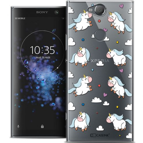 "Coque Crystal Gel Sony Xperia XA2 PLUS (6"") Extra Fine Fantasia - Licorne In the Sky"