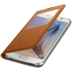 Visuel supplémentaire de Etui Folio Galaxy S6 S-View Cover Fabric Origine Samsung - Orange