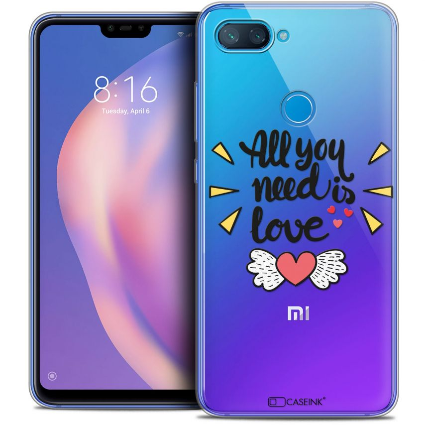 "Coque Crystal Gel Xiaomi Mi 8 LITE (6.26"") Extra Fine Love - All U Need Is"