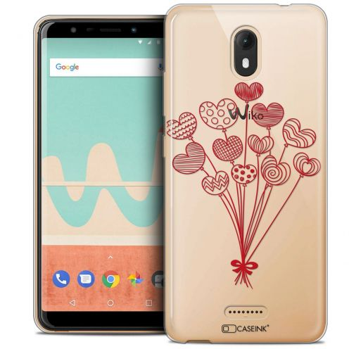 """Coque Crystal Gel Wiko View GO (5.7"""") Extra Fine Love - Ballons d'amour"""