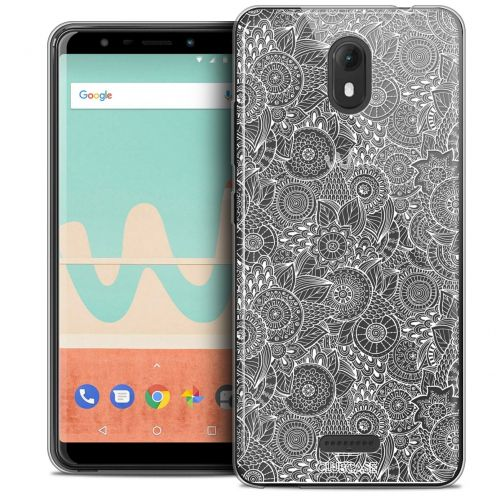 """Coque Crystal Gel Wiko View GO (5.7"""") Extra Fine Dentelle Florale - Blanc"""