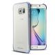 Photo réelle de Coque Galaxy S6 Edge Clear Cover Origine Samsung Chrome Noir