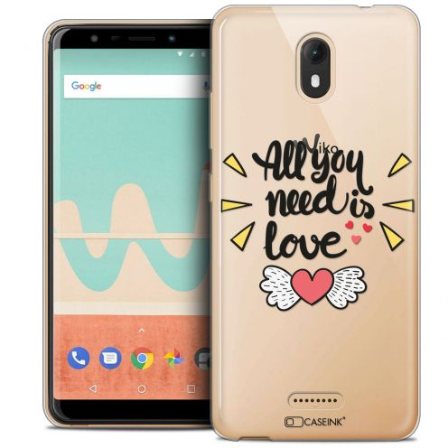 """Coque Crystal Gel Wiko View GO (5.7"""") Extra Fine Love - All U Need Is"""