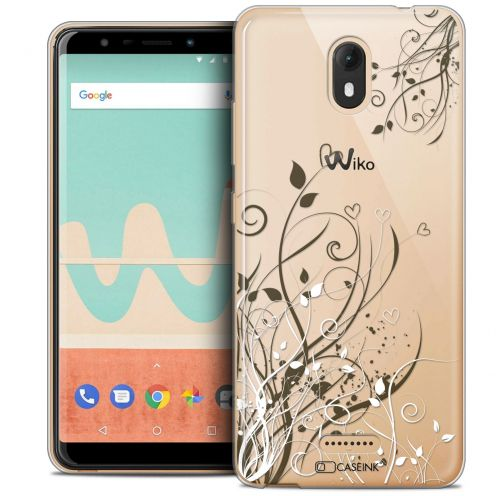 """Coque Crystal Gel Wiko View GO (5.7"""") Extra Fine Love - Hearts Flowers"""
