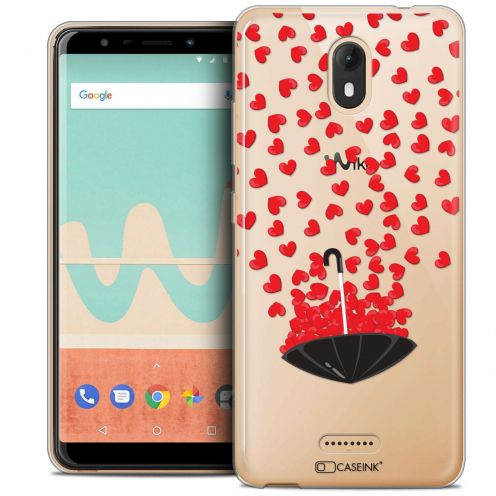 """Coque Crystal Gel Wiko View GO (5.7"""") Extra Fine Love - Parapluie d'Amour"""