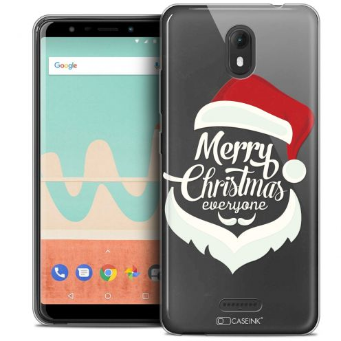 """Coque Crystal Gel Wiko View GO (5.7"""") Extra Fine Noël 2017 - Merry Everyone"""
