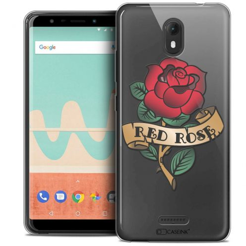 """Coque Crystal Gel Wiko View GO (5.7"""") Extra Fine Tatoo Lover - Red Rose"""