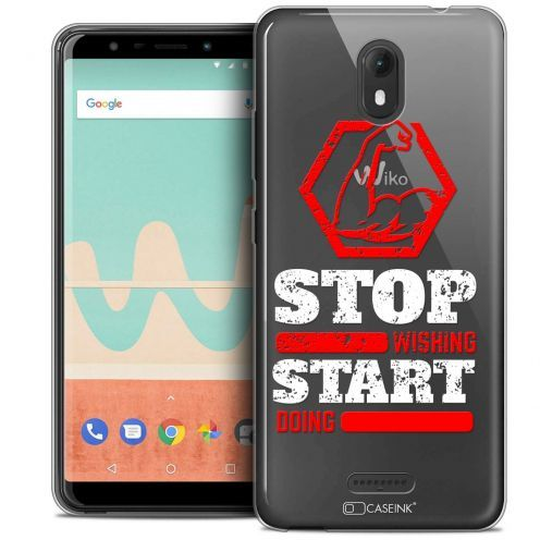 """Coque Crystal Gel Wiko View GO (5.7"""") Extra Fine Quote - Start Doing"""