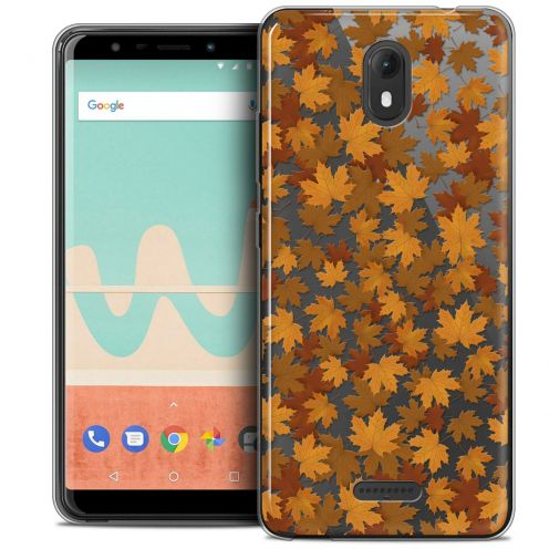 """Coque Crystal Gel Wiko View GO (5.7"""") Extra Fine Autumn 16 - Feuilles"""