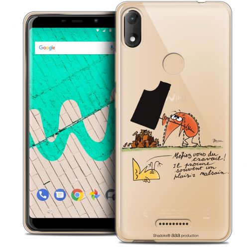 """Coque Gel Wiko View MAX (5.7"""") Extra Fine Les Shadoks® - Le Travail"""