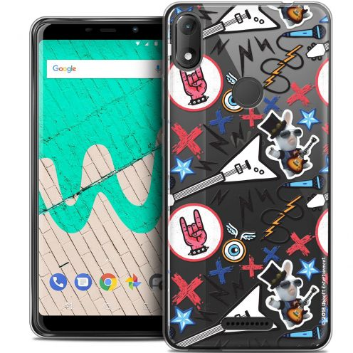 """Coque Gel Wiko View MAX (5.7"""") Extra Fine Lapins Crétins™ - Rock Pattern"""