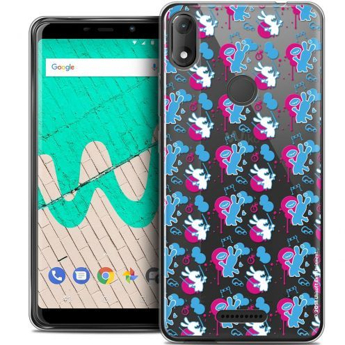 """Coque Gel Wiko View MAX (5.7"""") Extra Fine Lapins Crétins™ - Rugby Pattern"""