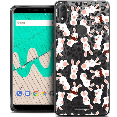 """Coque Gel Wiko View MAX (5.7"""") Extra Fine Lapins Crétins™ - Leopard Pattern"""