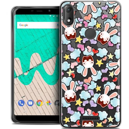 """Coque Gel Wiko View MAX (5.7"""") Extra Fine Lapins Crétins™ - Love Pattern"""
