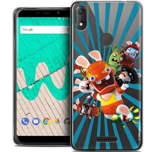 """Coque Gel Wiko View MAX (5.7"""") Extra Fine Lapins Crétins™ - Super Heros"""