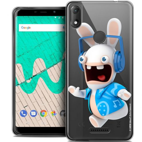 """Coque Gel Wiko View MAX (5.7"""") Extra Fine Lapins Crétins™ - Techno Lapin"""