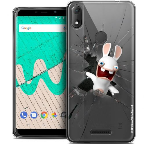 """Coque Gel Wiko View MAX (5.7"""") Extra Fine Lapins Crétins™ - Breaking Glass"""