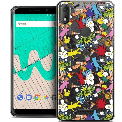 """Coque Gel Wiko View MAX (5.7"""") Extra Fine Lapins Crétins™ - Bwaaah Pattern"""