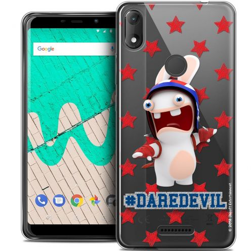"""Coque Gel Wiko View MAX (5.7"""") Extra Fine Lapins Crétins™ - Dare Devil"""