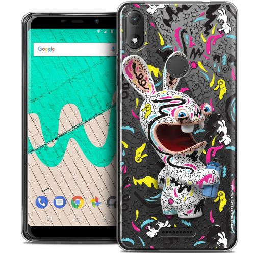 """Coque Gel Wiko View MAX (5.7"""") Extra Fine Lapins Crétins™ - Tag"""