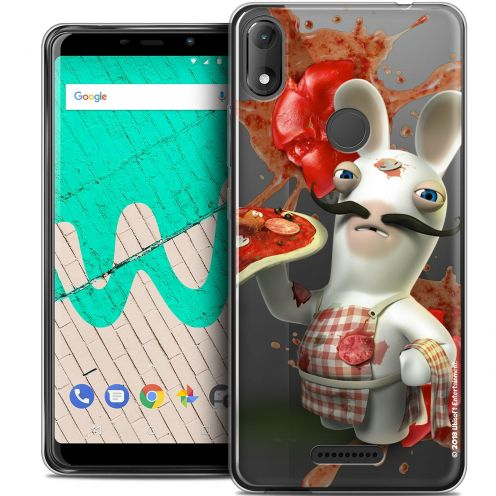 """Coque Gel Wiko View MAX (5.7"""") Extra Fine Lapins Crétins™ - Cuisinier"""
