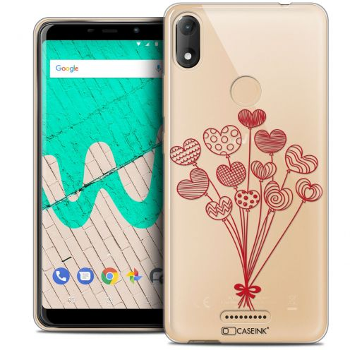 """Coque Crystal Gel Wiko View MAX (5.7"""") Extra Fine Love - Ballons d'amour"""