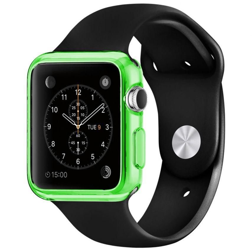 Visuel supplémentaire de Coque Clear Frame Extra Fine Verte pour Apple Watch 38mm