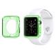 Vue complémentaire de Coque Clear Frame Extra Fine Verte pour Apple Watch 38mm