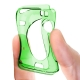 Vue portée de Coque Clear Frame Extra Fine Verte pour Apple Watch 38mm