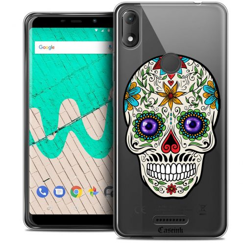 """Coque Crystal Gel Wiko View MAX (5.7"""") Extra Fine Skull - Maria's Flower"""
