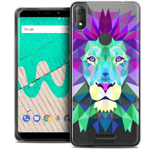 """Coque Crystal Gel Wiko View MAX (5.7"""") Extra Fine Polygon Animals - Lion"""