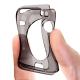 Vue portée de Coque Clear Frame Extra Fine Fumée pour Apple Watch 38mm