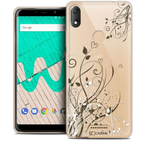 """Coque Crystal Gel Wiko View MAX (5.7"""") Extra Fine Love - Hearts Flowers"""