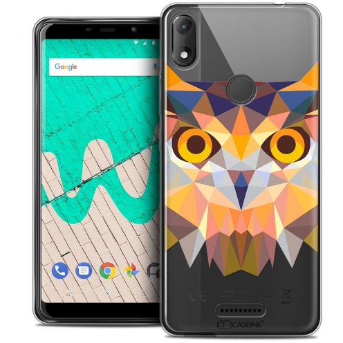 """Coque Crystal Gel Wiko View MAX (5.7"""") Extra Fine Polygon Animals - Hibou"""