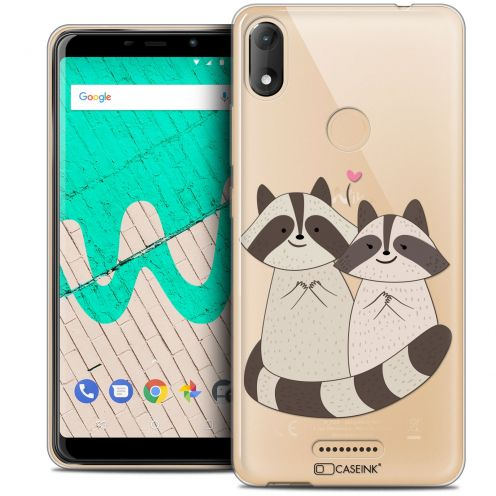 """Coque Crystal Gel Wiko View MAX (5.7"""") Extra Fine Sweetie - Racoon Love"""