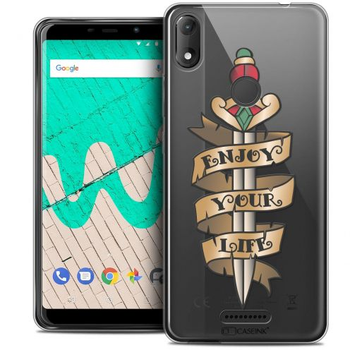 """Coque Crystal Gel Wiko View MAX (5.7"""") Extra Fine Tatoo Lover - Enjoy Life"""
