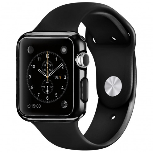Coque Black Frame Extra Fine Noir opaque pour Apple Watch 38mm