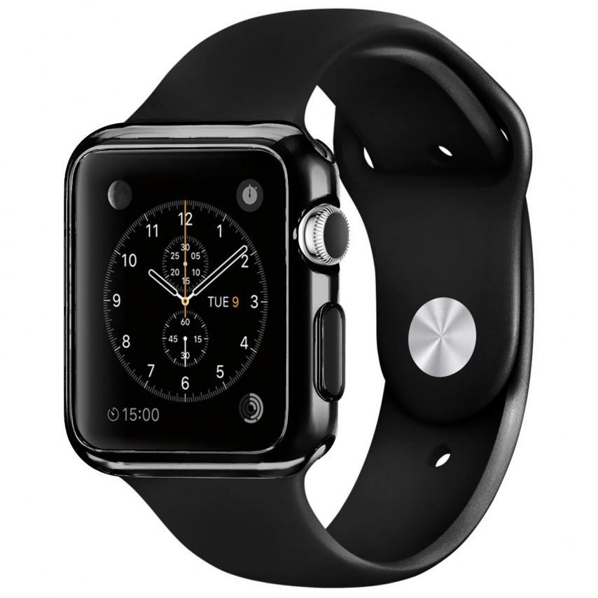 Visuel supplémentaire de Coque Black Frame Extra Fine Noir opaque pour Apple Watch 38mm