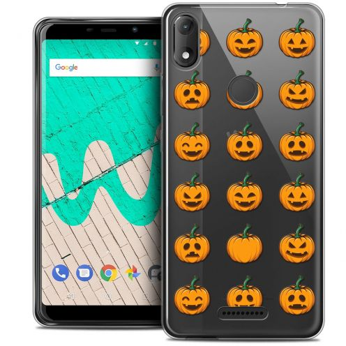 """Coque Crystal Gel Wiko View MAX (5.7"""") Extra Fine Halloween - Smiley Citrouille"""