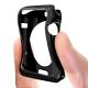 Vue portée de Coque Black Frame Extra Fine Noir opaque pour Apple Watch 38mm