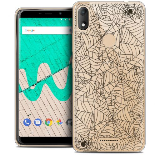 """Coque Crystal Gel Wiko View MAX (5.7"""") Extra Fine Halloween - Spooky Spider"""