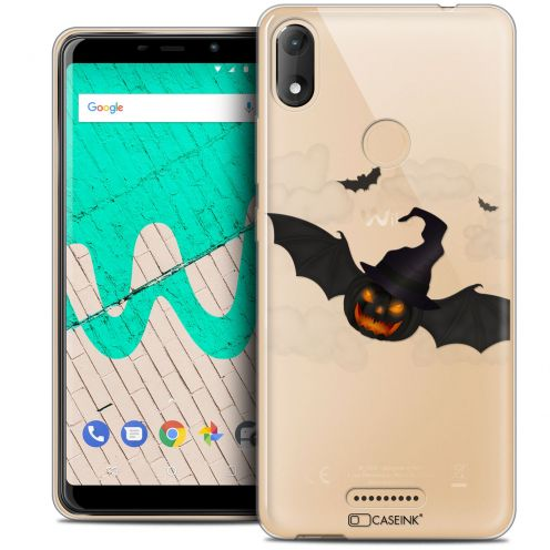"""Coque Crystal Gel Wiko View MAX (5.7"""") Extra Fine Halloween - Chauve Citrouille"""