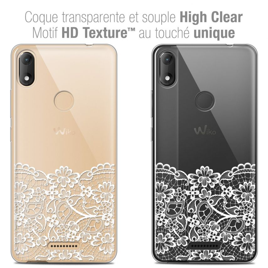 """Coque Crystal Gel Wiko View MAX (5.7"""") Extra Fine Spring - Bas dentelle"""