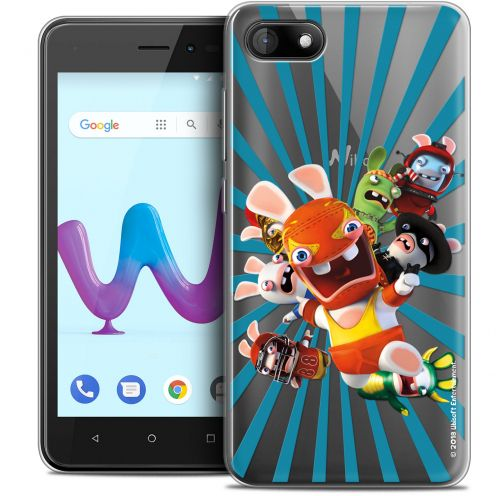 """Coque Gel Wiko Sunny 3 (5"""") Extra Fine Lapins Crétins™ - Super Heros"""