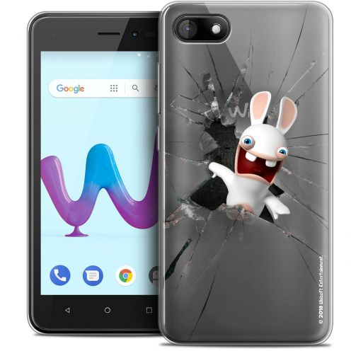 """Coque Gel Wiko Sunny 3 (5"""") Extra Fine Lapins Crétins™ - Breaking Glass"""