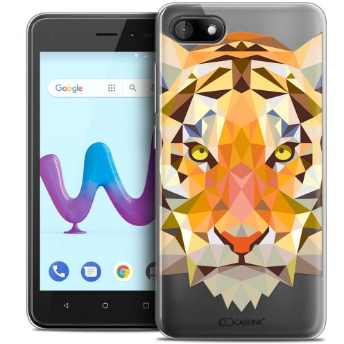 "Coque Crystal Gel Wiko Sunny 3 (5"") Extra Fine Polygon Animals - Tigre"