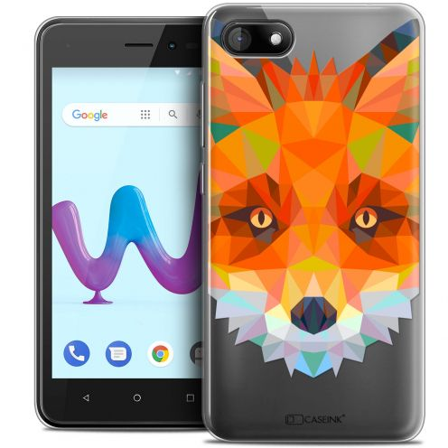 "Coque Crystal Gel Wiko Sunny 3 (5"") Extra Fine Polygon Animals - Renard"