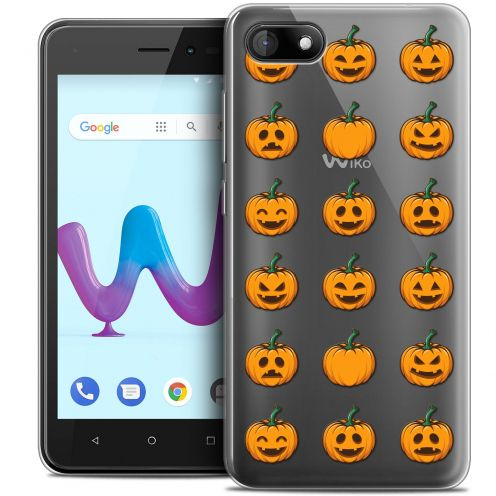 "Coque Crystal Gel Wiko Sunny 3 (5"") Extra Fine Halloween - Smiley Citrouille"