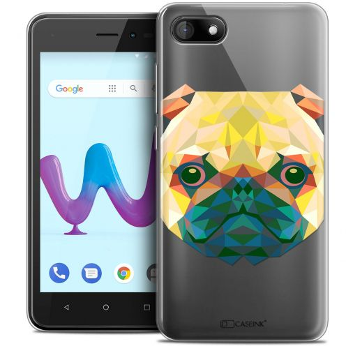 "Coque Crystal Gel Wiko Sunny 3 (5"") Extra Fine Polygon Animals - Chien"