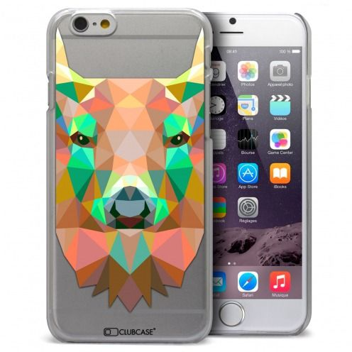 Coque Crystal iPhone 6 / 6s Extra Fine Polygon Animals - Cerf